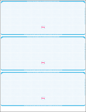 Blue linen three per page blank laser checks