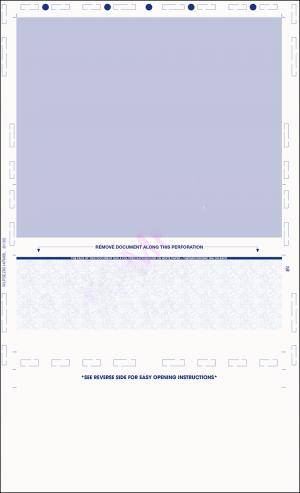 Legal eccentric Z fold Pressure seal checks Blue