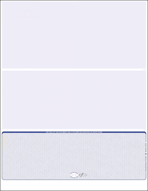 Bottom Blue Hologram Blank Laser Check WLSTK3SVHBL