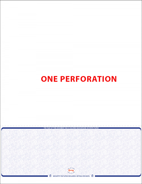 ADP compatiblesingle perforation bottom position blank laser check
