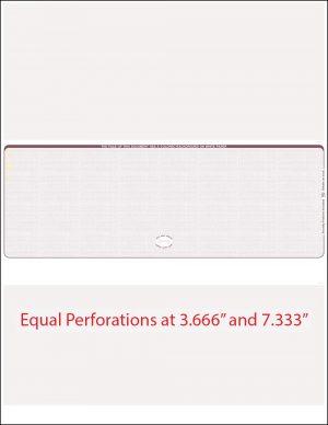 Middle Burgundy Linen Equal Perforation Blank Laser Check WLSTK8LNBY