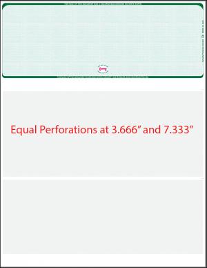 Equal Perforation Checks - Perforated Checks