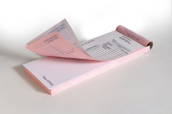 Two-Part Vertical Deposit Ticket Book