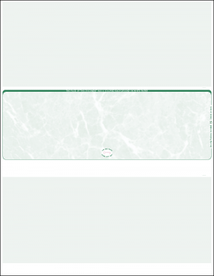 Middle Green Marble Blank Laser Check