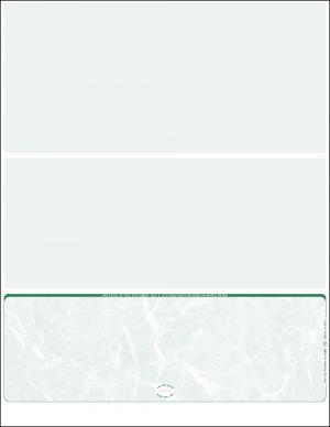 Green Marble Bottom Blank Laser Check