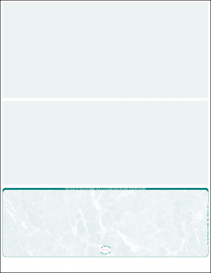 Teal Marble Bottom position blank laser check new format