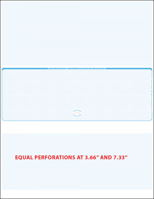 Blue linen middle equal perforation blank laser check