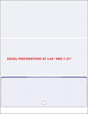 Reflex Blue linen equal perforation bottom Blank Laser Check