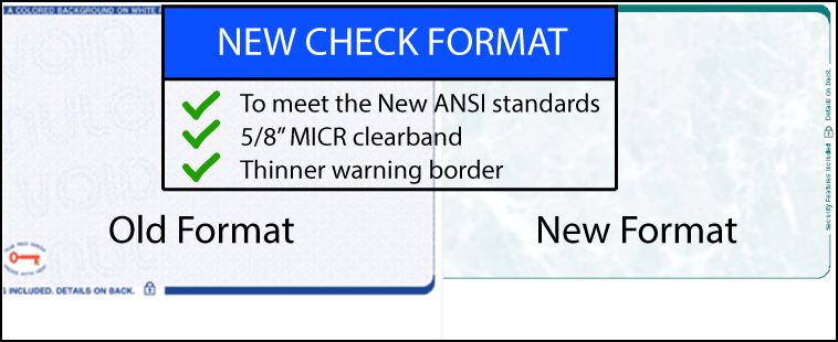 """New ANSI 5/8"""" clear band check design"""