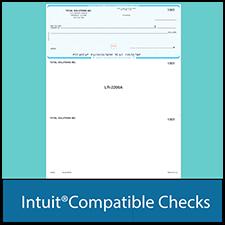 Intuit Compatible Check Paper