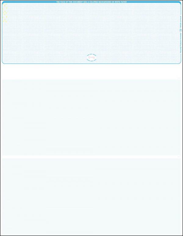 top blue linen blank laser check
